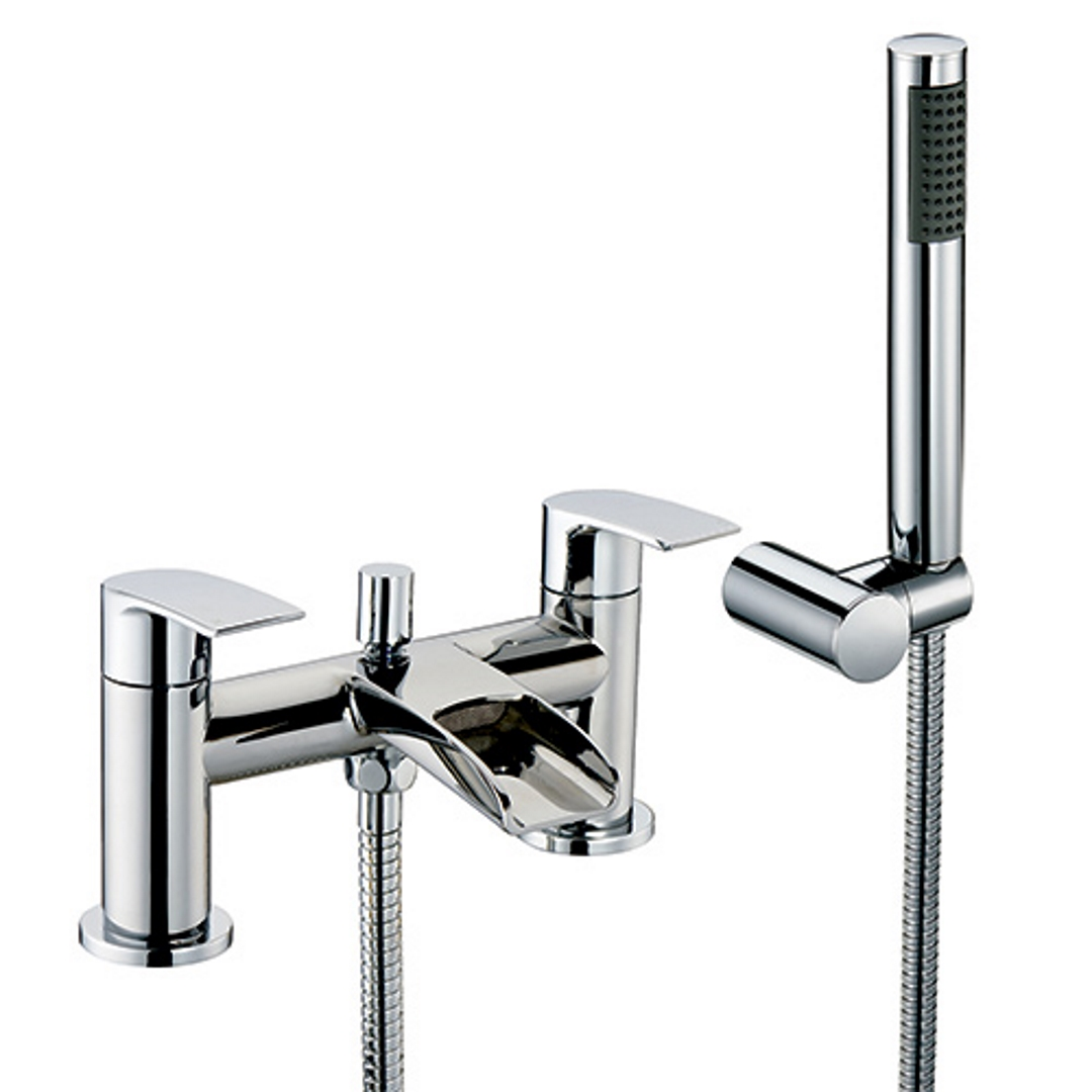 bathroom taps basin bath fillers bath shower mixers focus thermostatic deck mounted bath shower mixer with