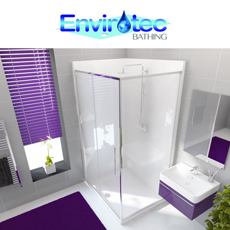 Envirotec Bathing logo and showroom views