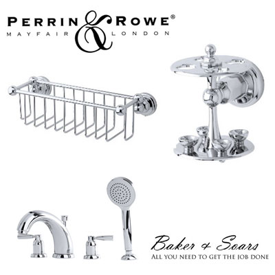 Perrin and Rowe bathroom and taps at Baker and Soars