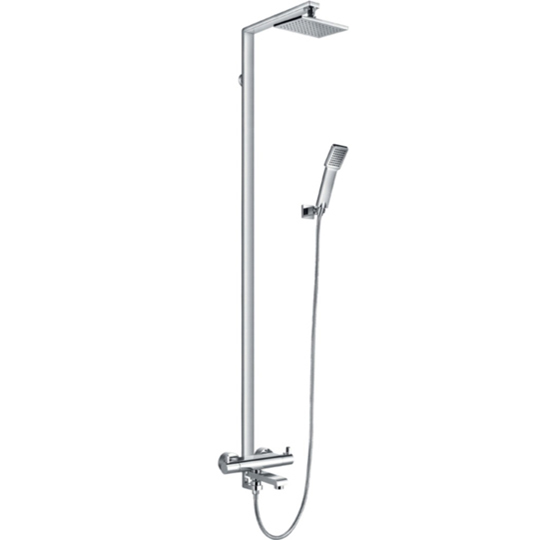 Flova Essence Thermostatic Exposed Shower Column With Hand