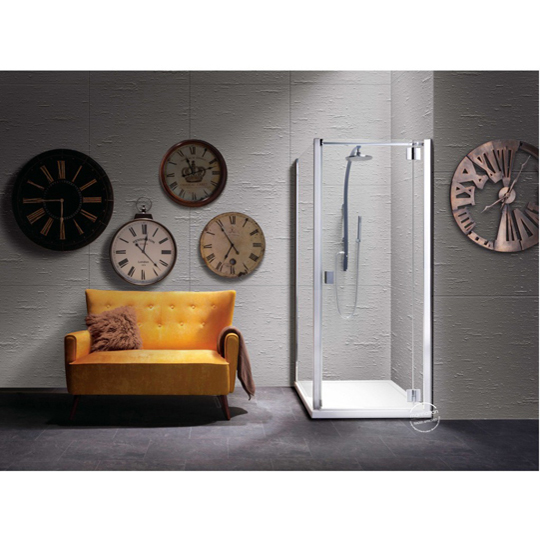 Roman Showers Liber8 Hinged Door With Two In Line Panels
