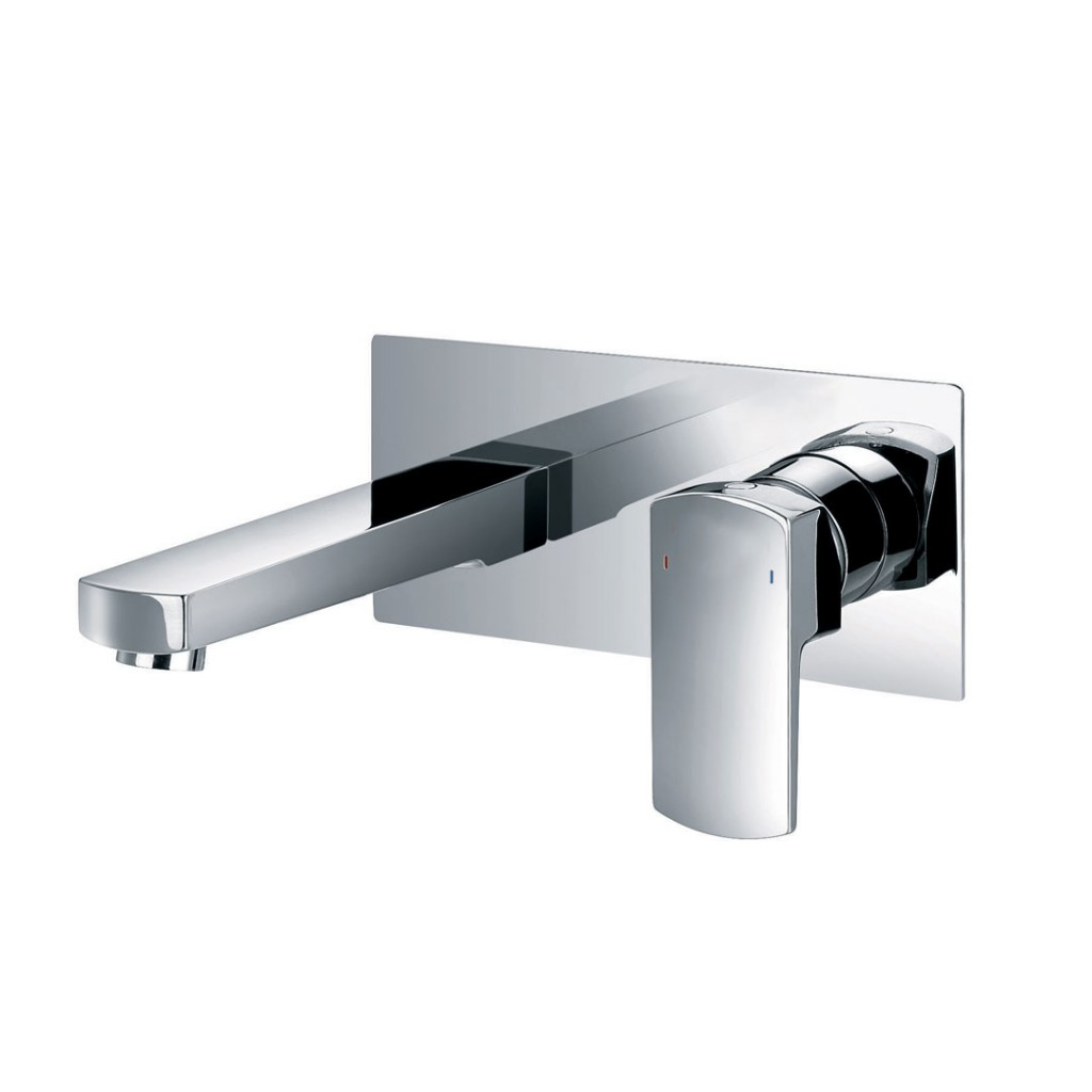 Flova Dekka Two Hole Wall Mounted Basin Mixer DE2HWMBAS
