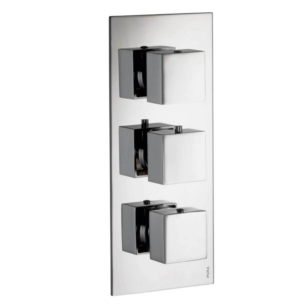 Pura Showers - Bloque Two Outlet Thermostatic Shower Valve with ABS ...