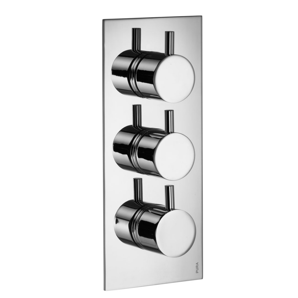 Flova Levo - Twin Outlet Triple Concealed Thermostatic Valve LV333 ...