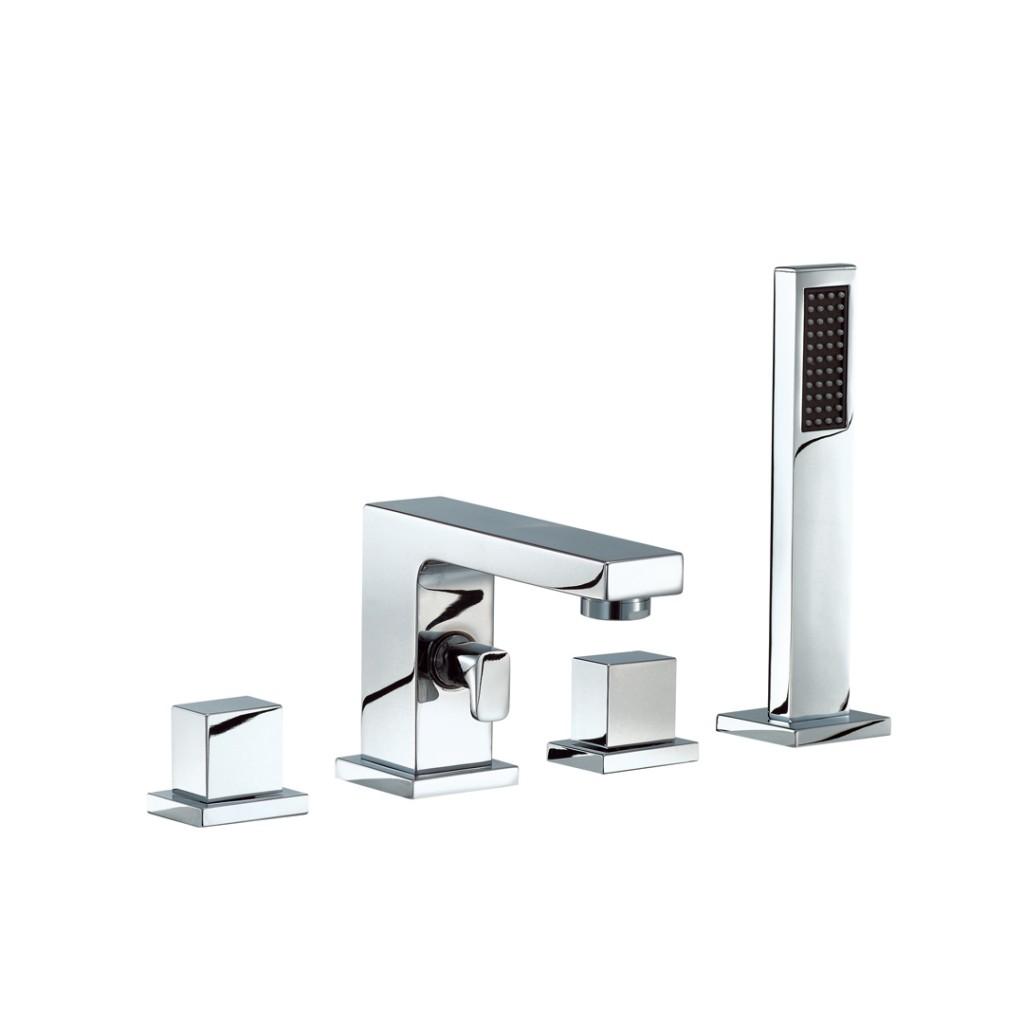 Mayfair Blox 4 Hole Bath Shower Mixer BLX047