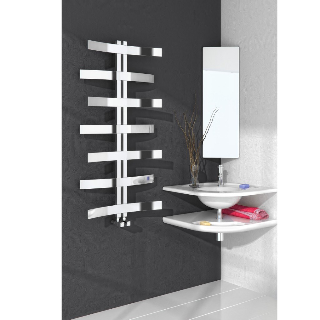 bathrooms designs pictures reina lioni polished stainless steel radiator rns l10612 10612