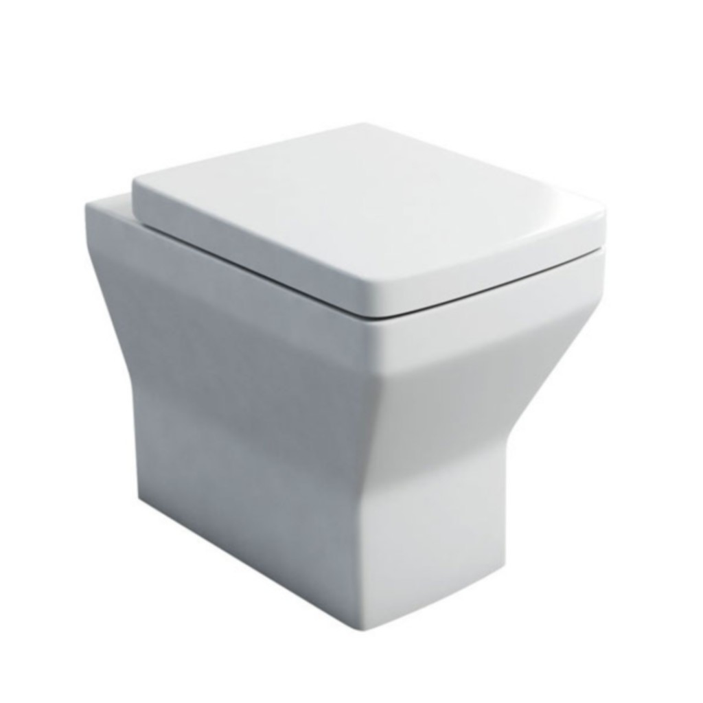 Britton Cube Back To Wall WC With Soft Close Seat