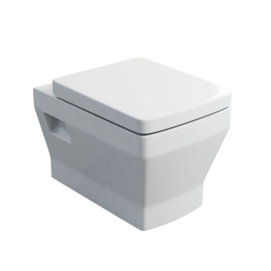 Britton Cube Wall Hung WC With Soft Close Seat