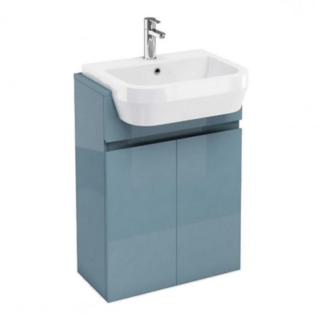 Aqua Cabinet D300 Fitted 600mm Semi Recessed Basin Unit