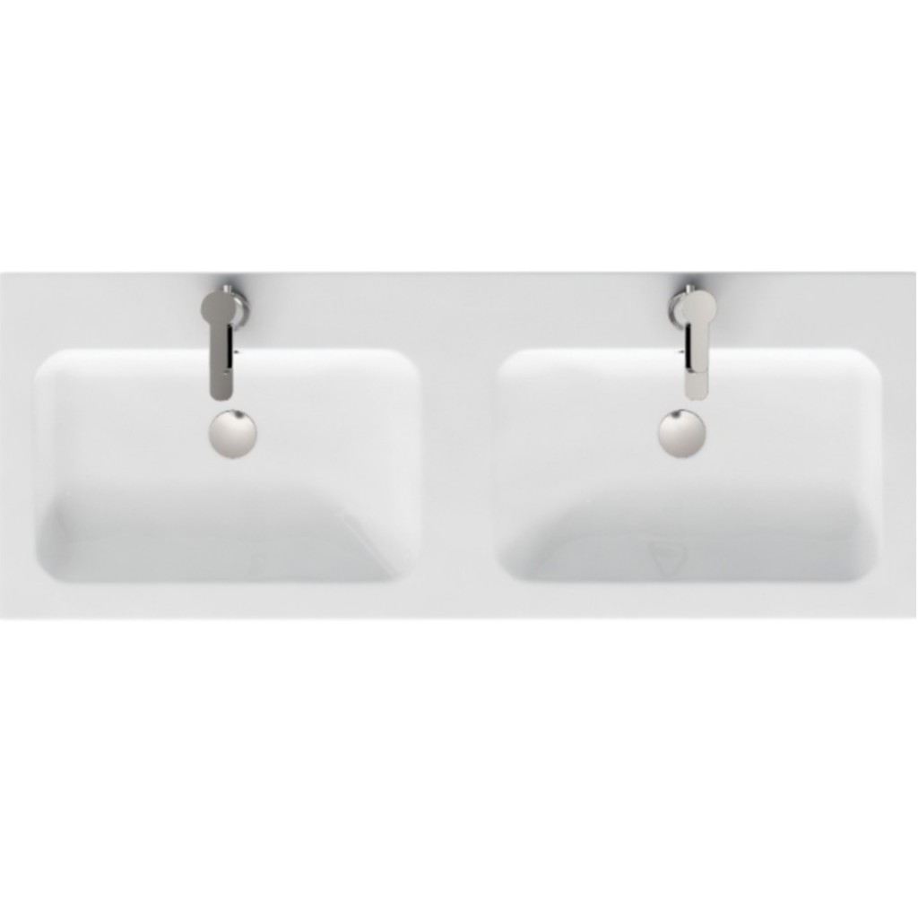 Aqua Cabinet D300 Fitted 1200mm Quattrocast Double Basin