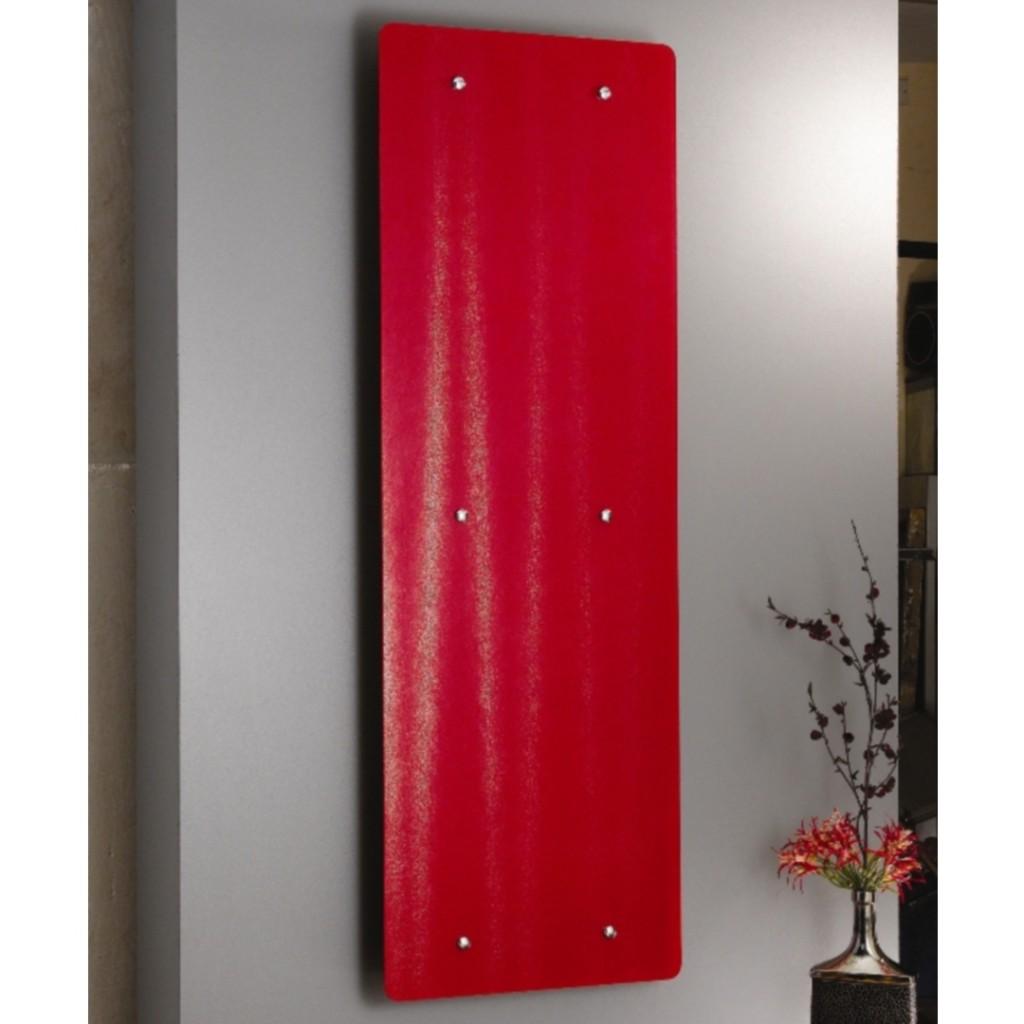 Apollo Ferrara Red Glass Vertical Designer Radiator