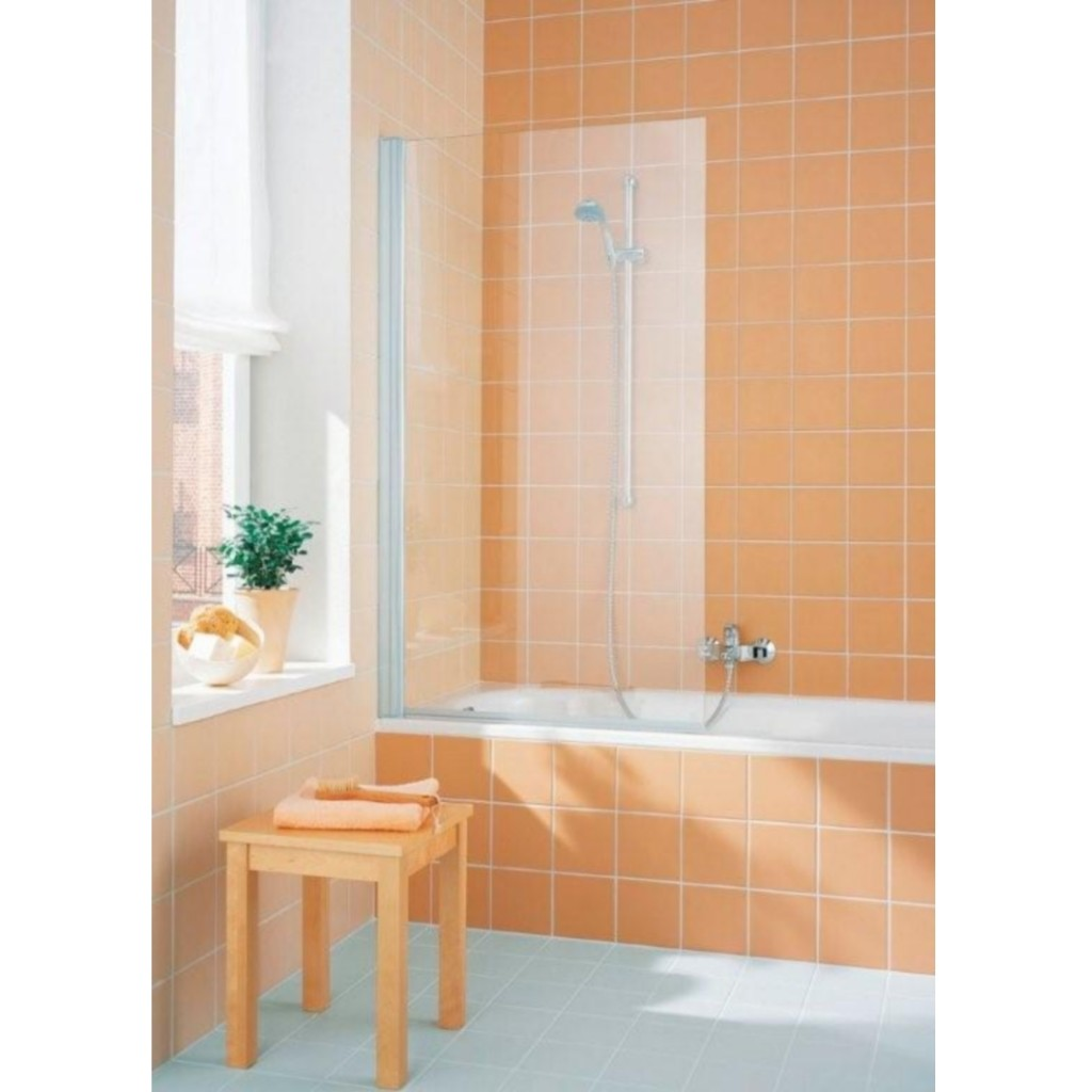 Kermi Cada Hinged Bath Screen (Straight) - Baker and Soars
