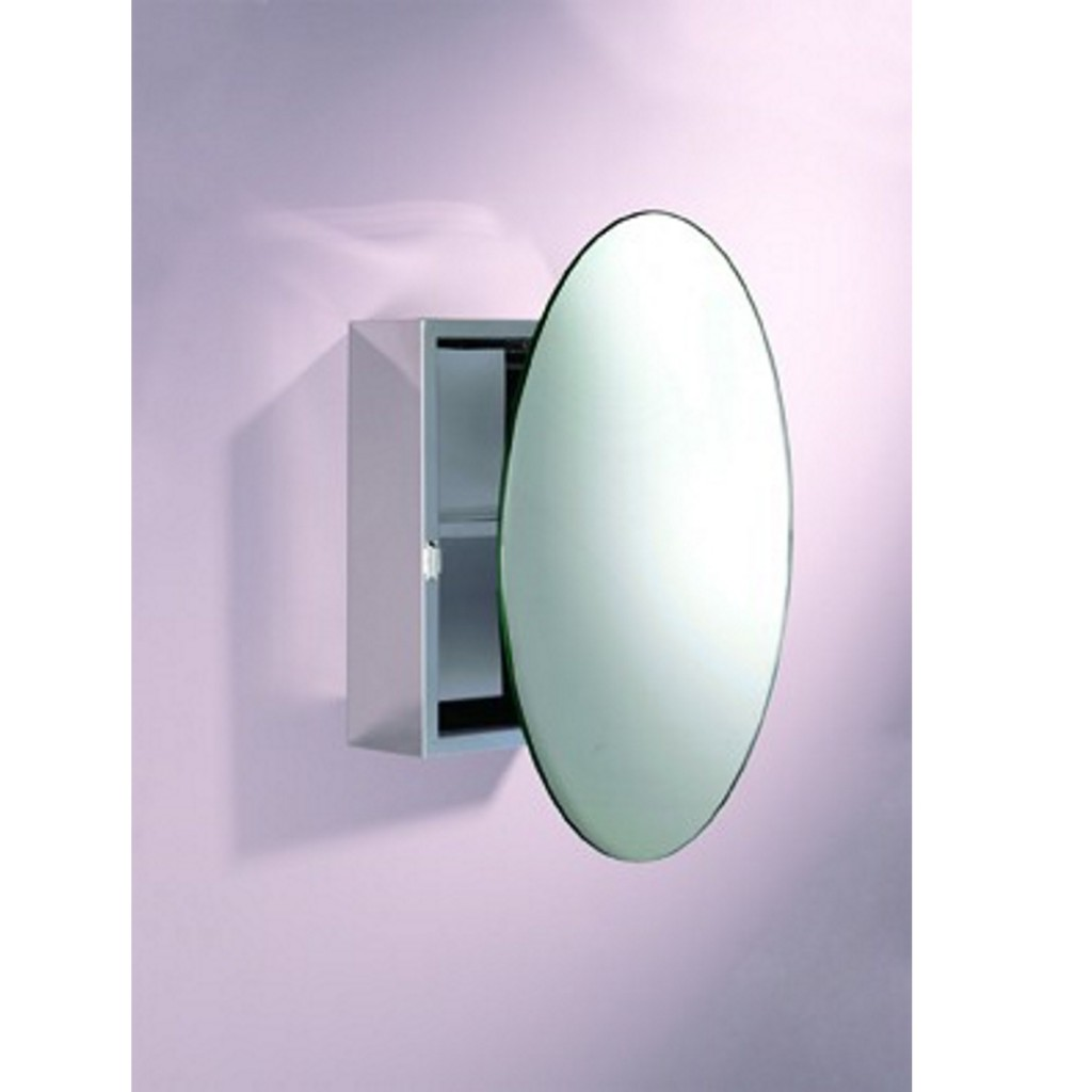 Illuminate Round Mirror Cabinet - Baker and Soars