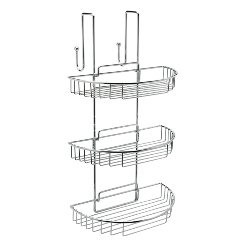 Sagittarius curve shower cubicle shelf tidy baker and soars for Shower cubicle shelves