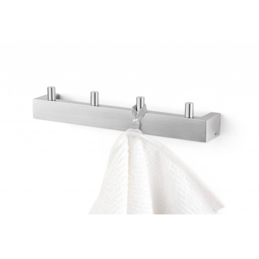 Zack Linea Towel Hook Rail Wall Mounted 40035 - Baker and Soars