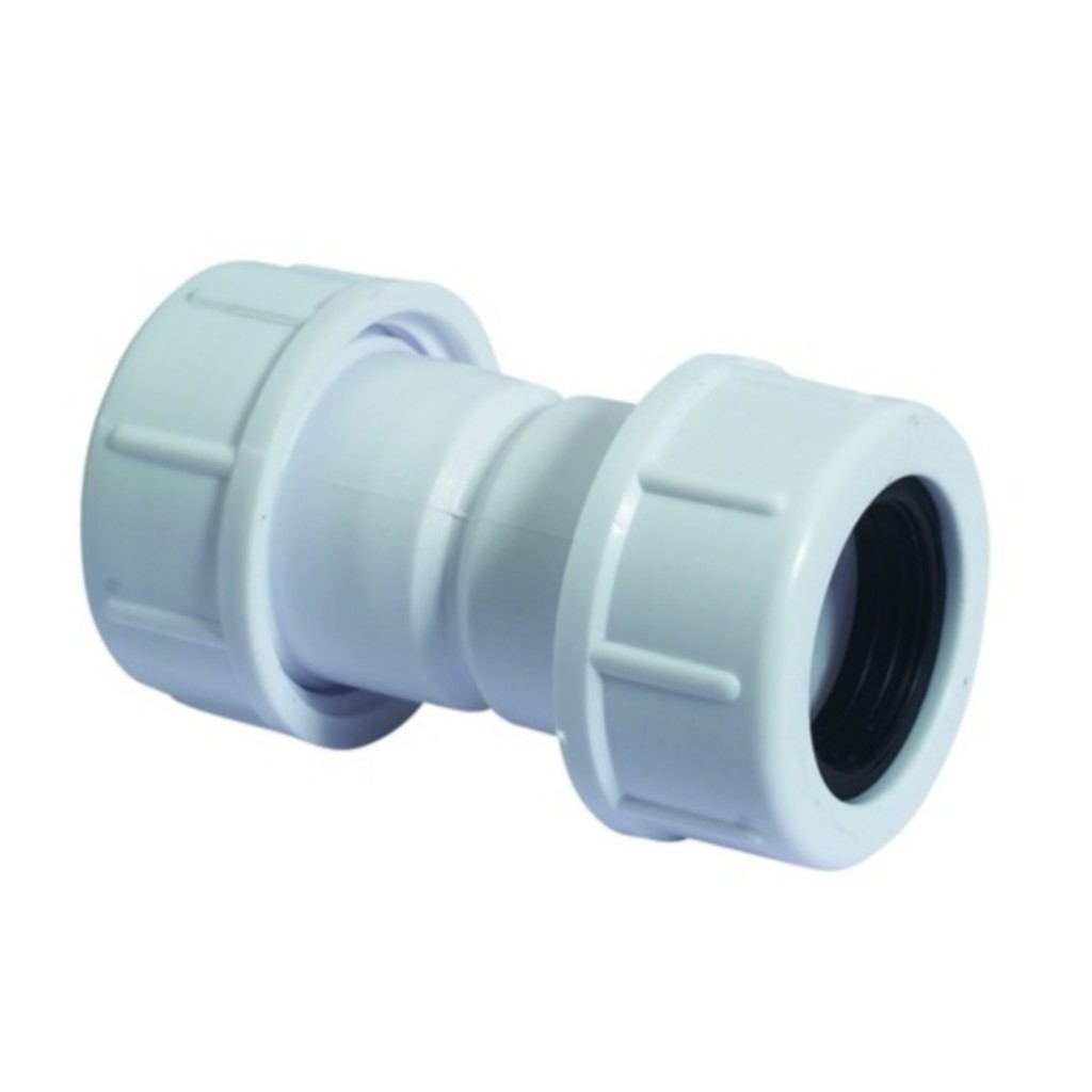 McAlpine Universal Overflow Pipe Connector White R1M