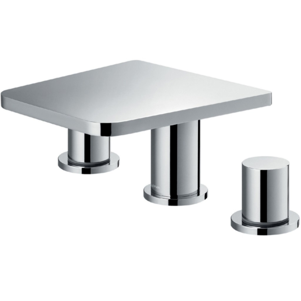 Flova Annecy 3 Hole Basin Mixer With Clicker Waste Set...