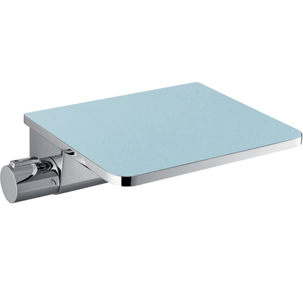 Flova Annecy Glass Shelf Wall Mounted Thermostatic Bath Shower Mixer ...