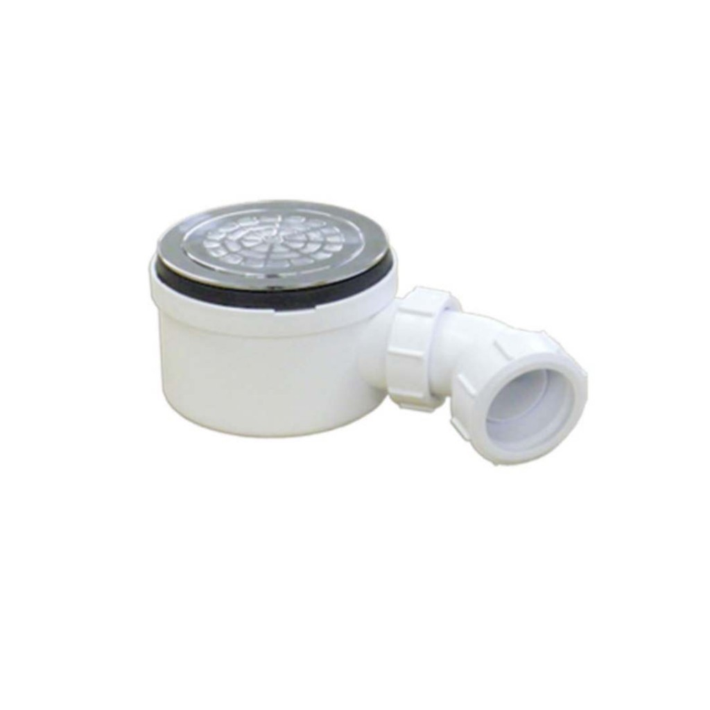 Mcalpine 90mm shower trap with 50mm water seal st90cpb p 70 baker and soars - Shallow shower tray ...
