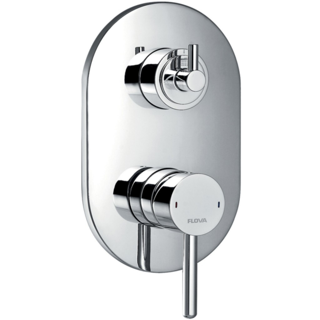 Flova Levo Concealed Manual Shower Valve With 3 Way Diverter ...