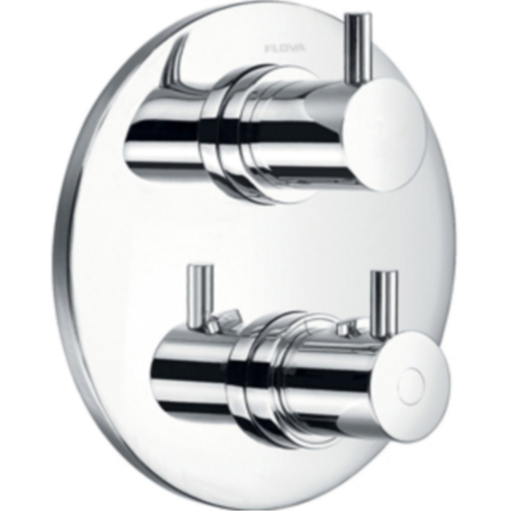 Thermostatic Mixing Valve For Shower Mixer With Diverter: Flova Levo Concealed Thermostatic Shower Mixer With 3 Way