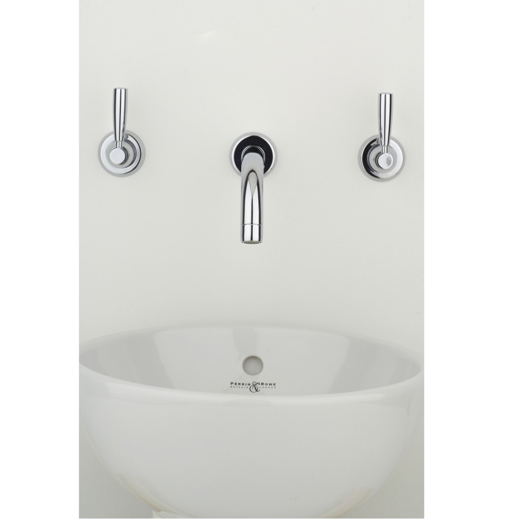 Perrin And Rowe Contemporary 3 Hole Wall Mounted Basin...