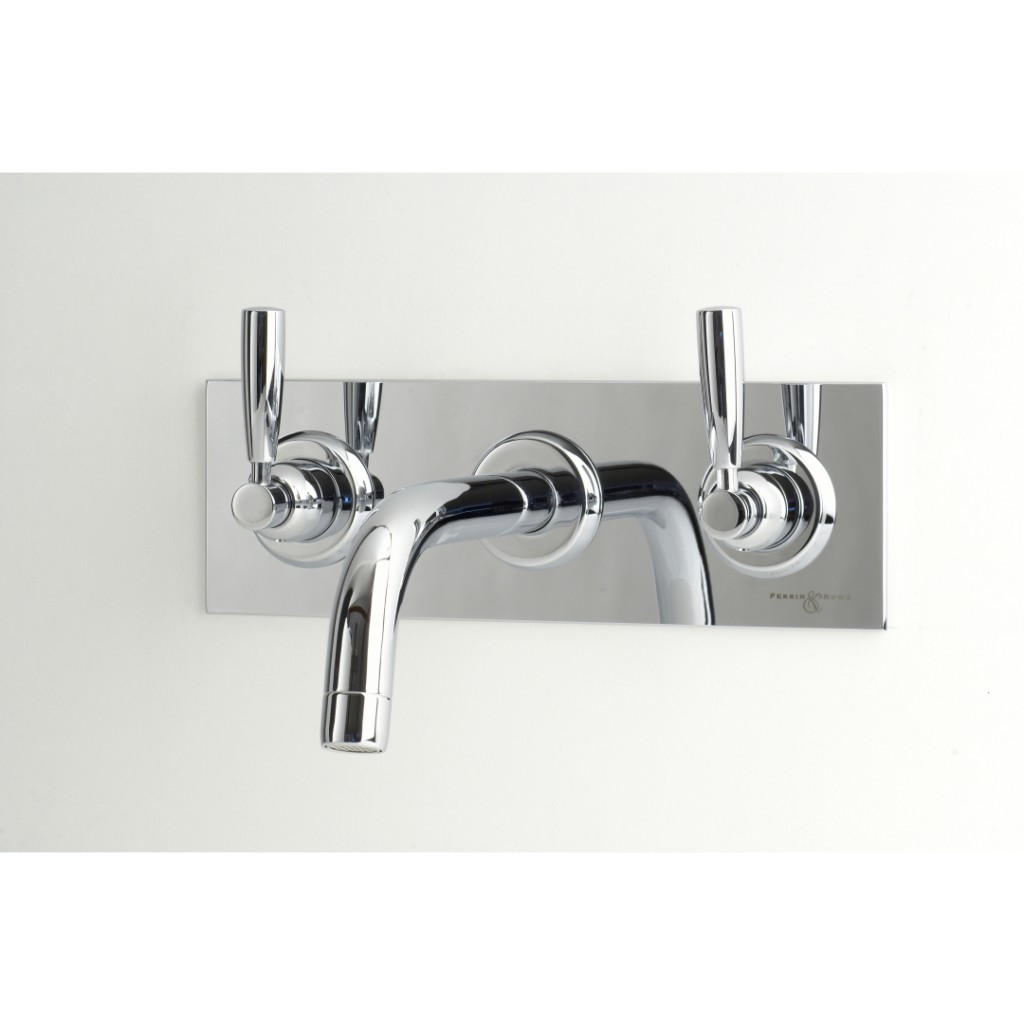 Perrin And Rowe Contemporary 3 Hole Wall Mounted Basin Set On Back ...
