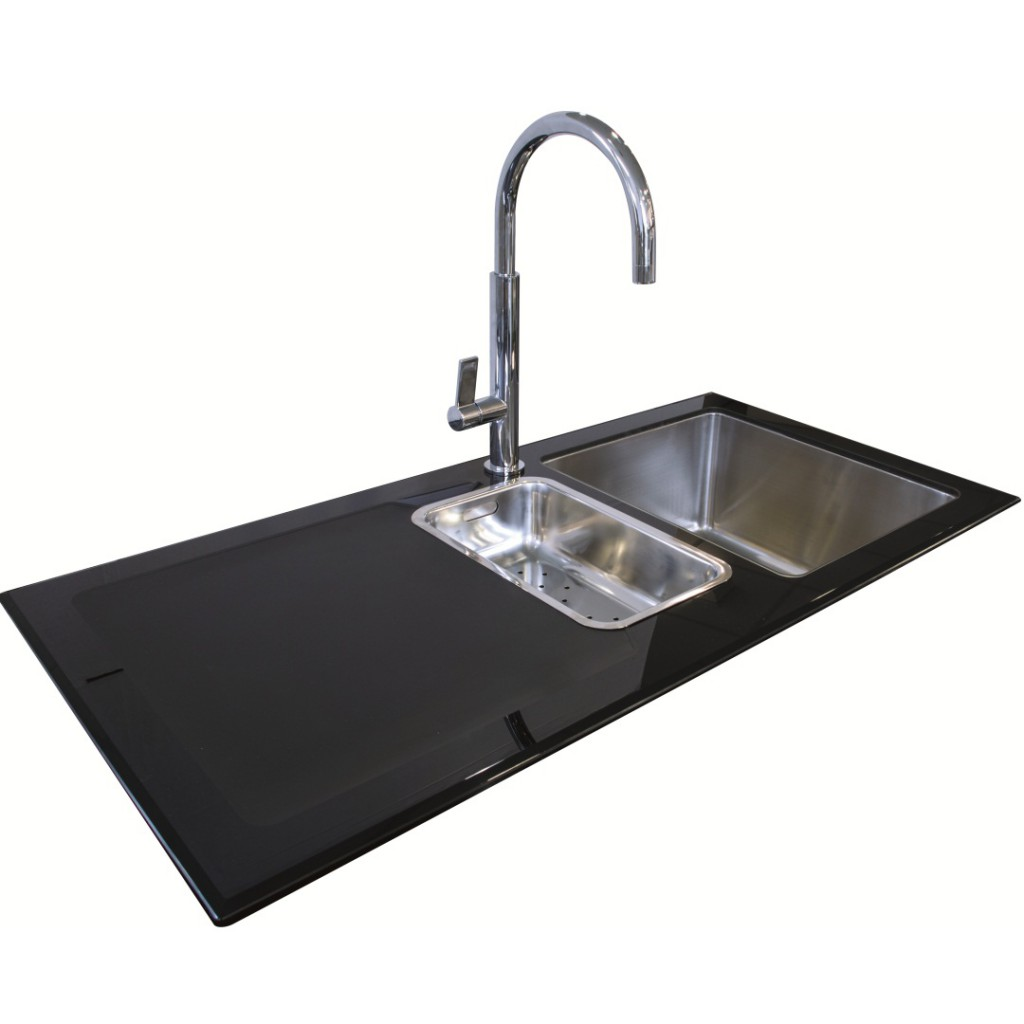 black glass kitchen sinks northern sink supplies new reflection glass sink black 4676