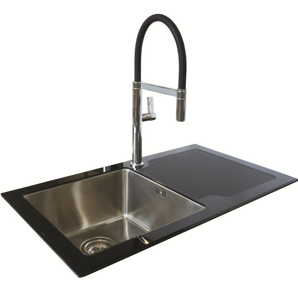 Northern Sink Supplies New Reflection Glass Sink Black...