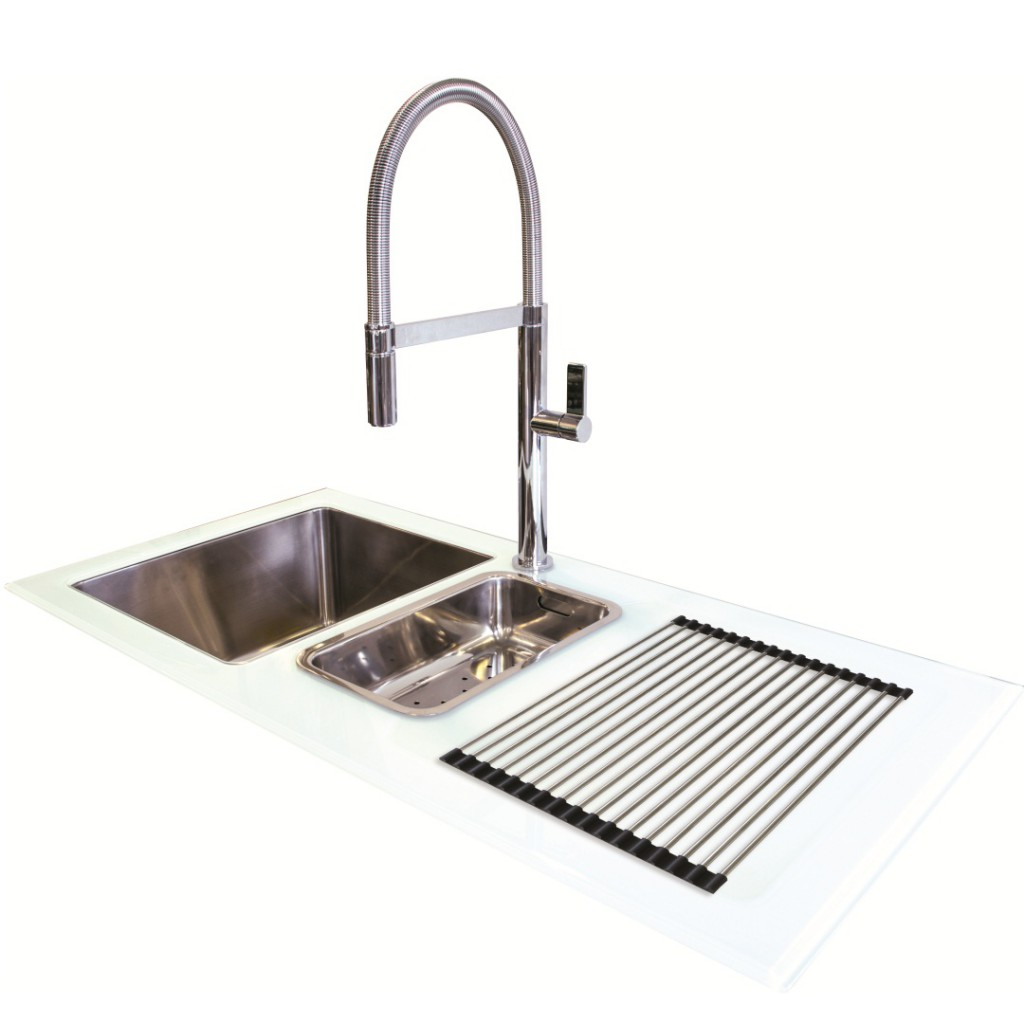Franke Black Glass Sink : Northern Sink Supplies New Reflection Glass Sink White GFS0020 ...
