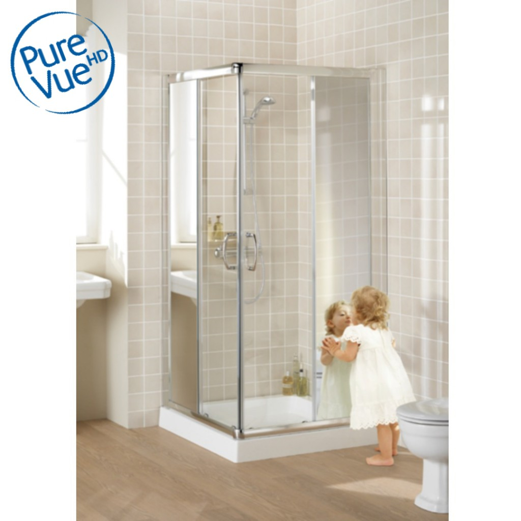Lakes Classic Semi-Frameless Corner Entry Shower...
