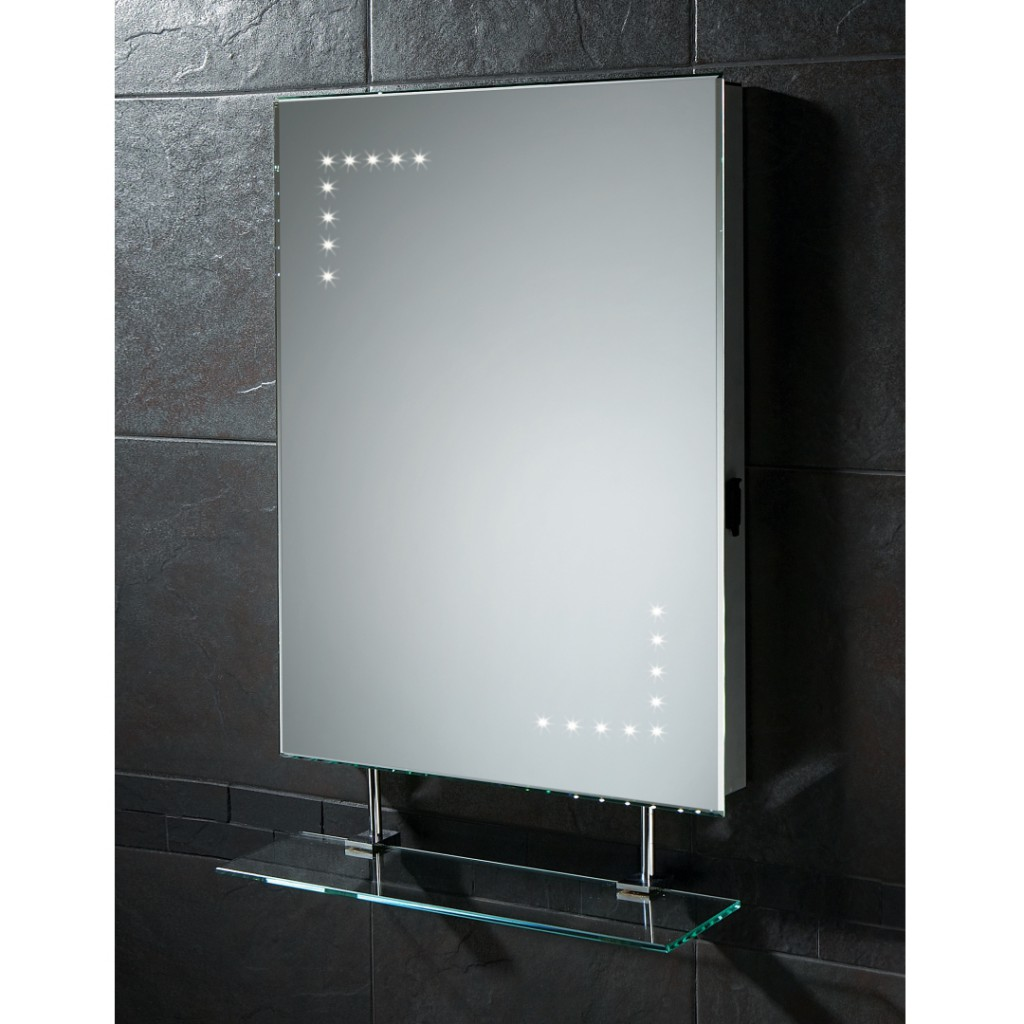 bathroom mirror cabinet with lights. quartz gloss white mirror
