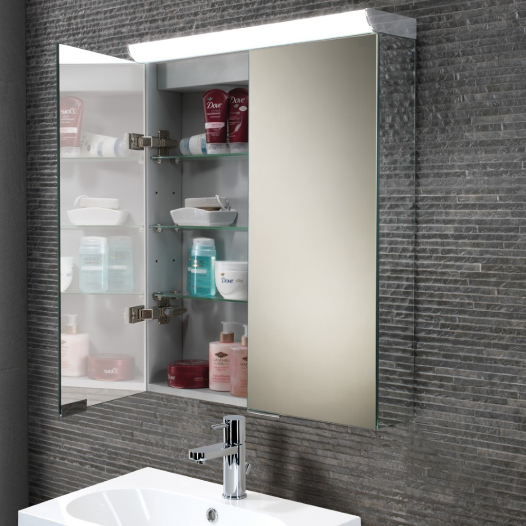 Hib bathroom mirrors led mirrors illuminated mirrors baker and soars - Hib Flare Led Cabinet With Mirrored Sides Art No 44900