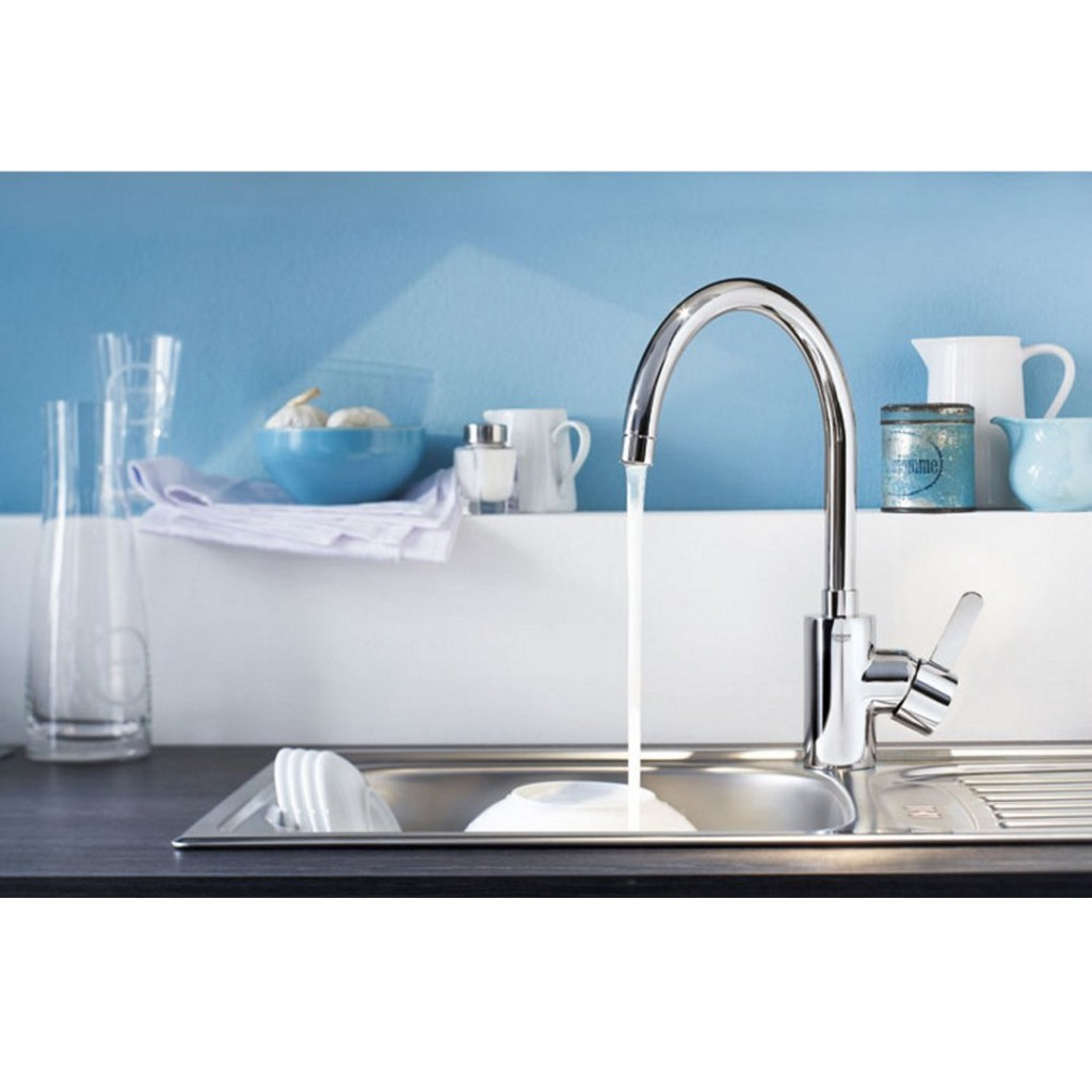 Grohe 32843000 Eurosmart Cosmopolitan Kitchen Tap - High Spout ...