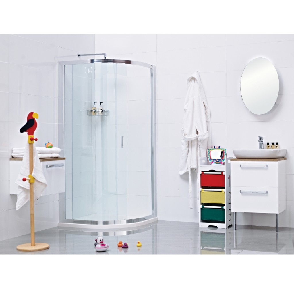 Roman Showers Lumin8 One Door Quadrant Shower Enclosure - Baker and ...