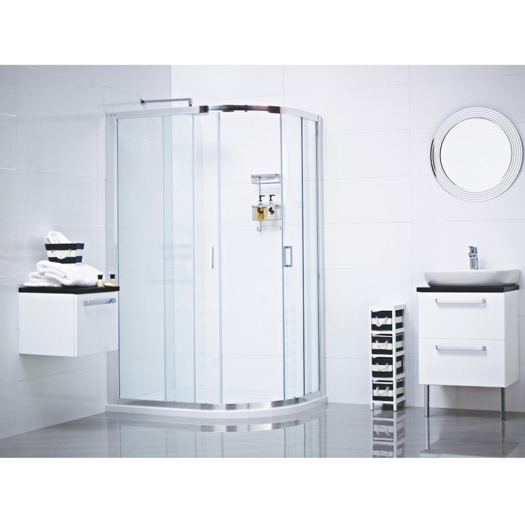Roman Showers Lumin8 Two Door Quadrant Shower Enclosure - Baker and ...