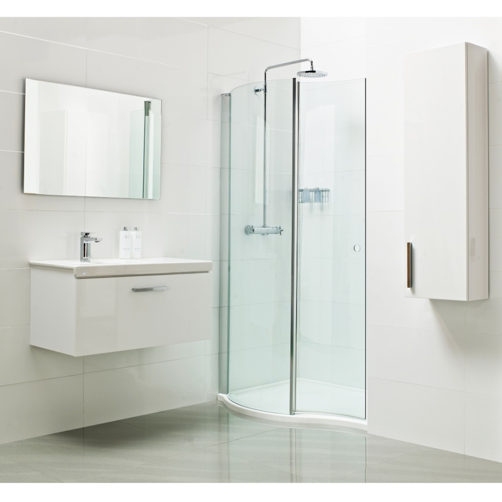 Roman Showers Lumin8 Wave Walk In Shower Enclosure Baker And Soars