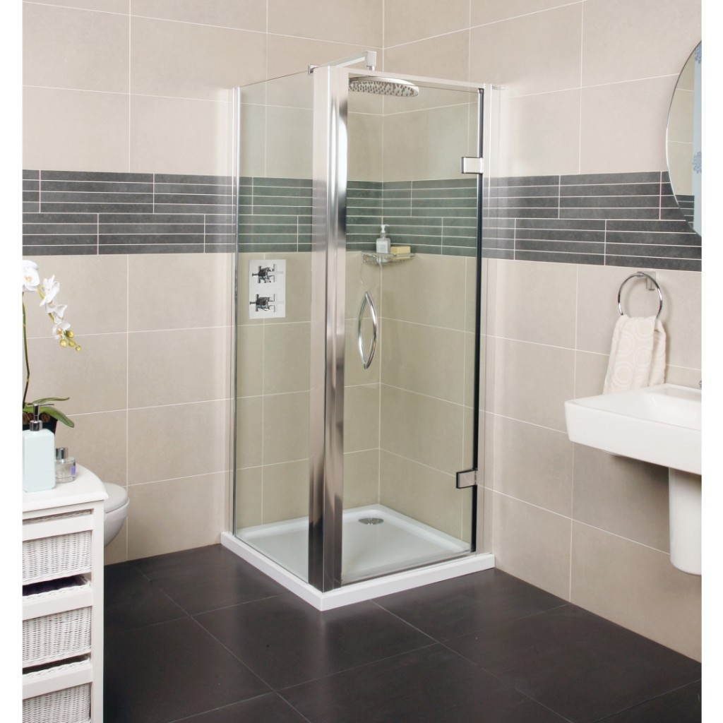 Roman Showers Collage Hinged Door Shower Enclosure