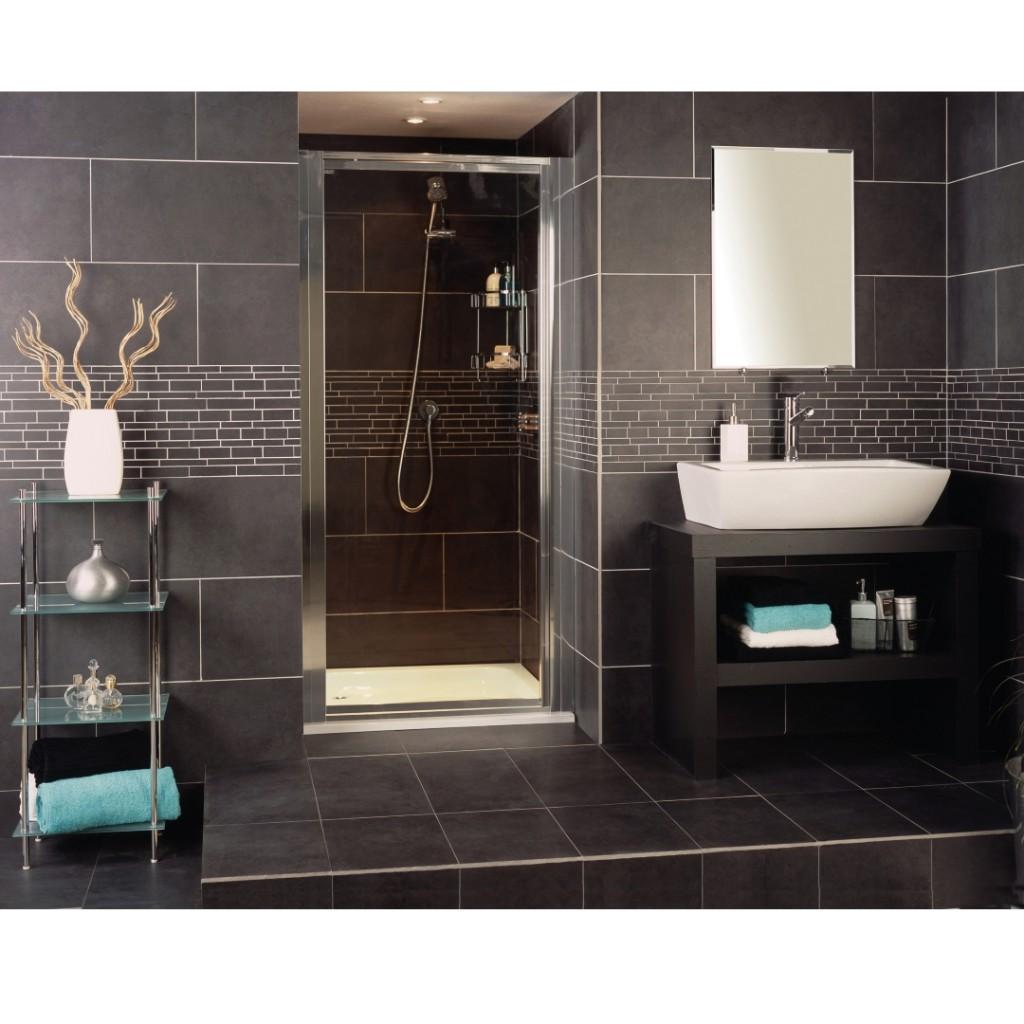 Roman Showers Collage Pivot Door Shower Enclosure
