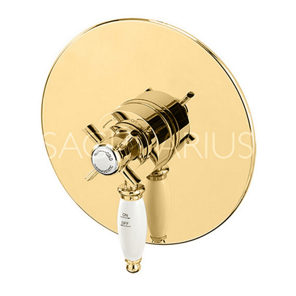 Sagittarius Churchmans Gold Concealed or Exposed Thermostatic Shower ...