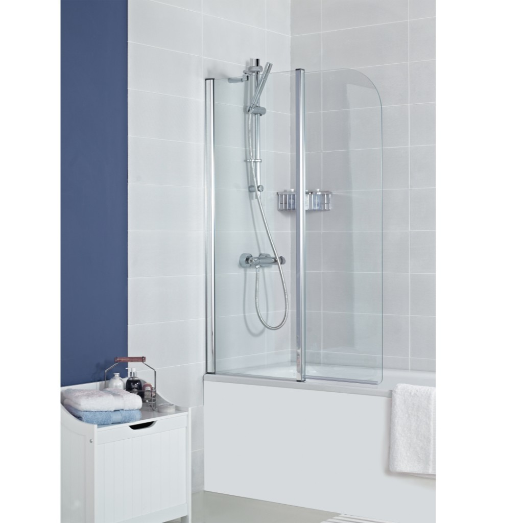 Roman Showers Haven Bath Screen-Inward Folding - Baker and Soars