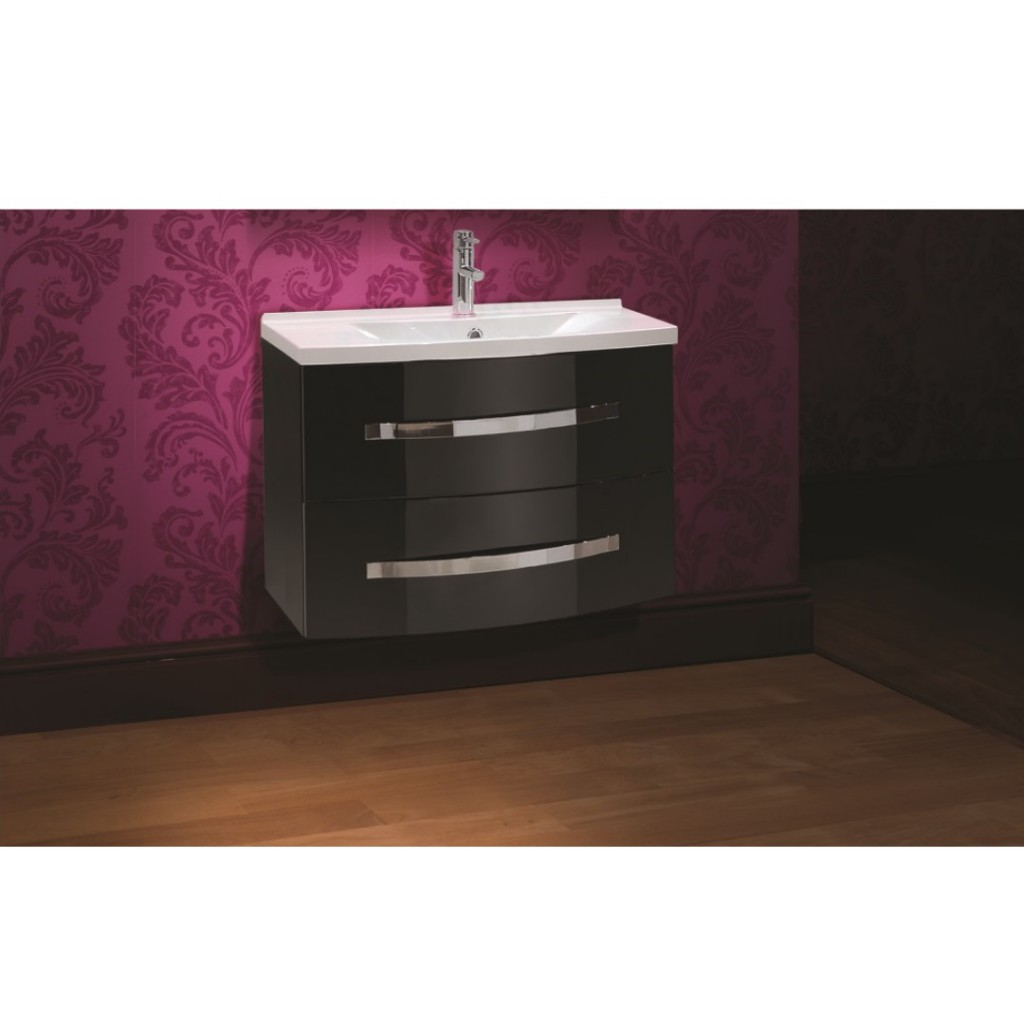 Mere Bathrooms Vue 70cm Washbasin And Wall Hung Drawer Unit