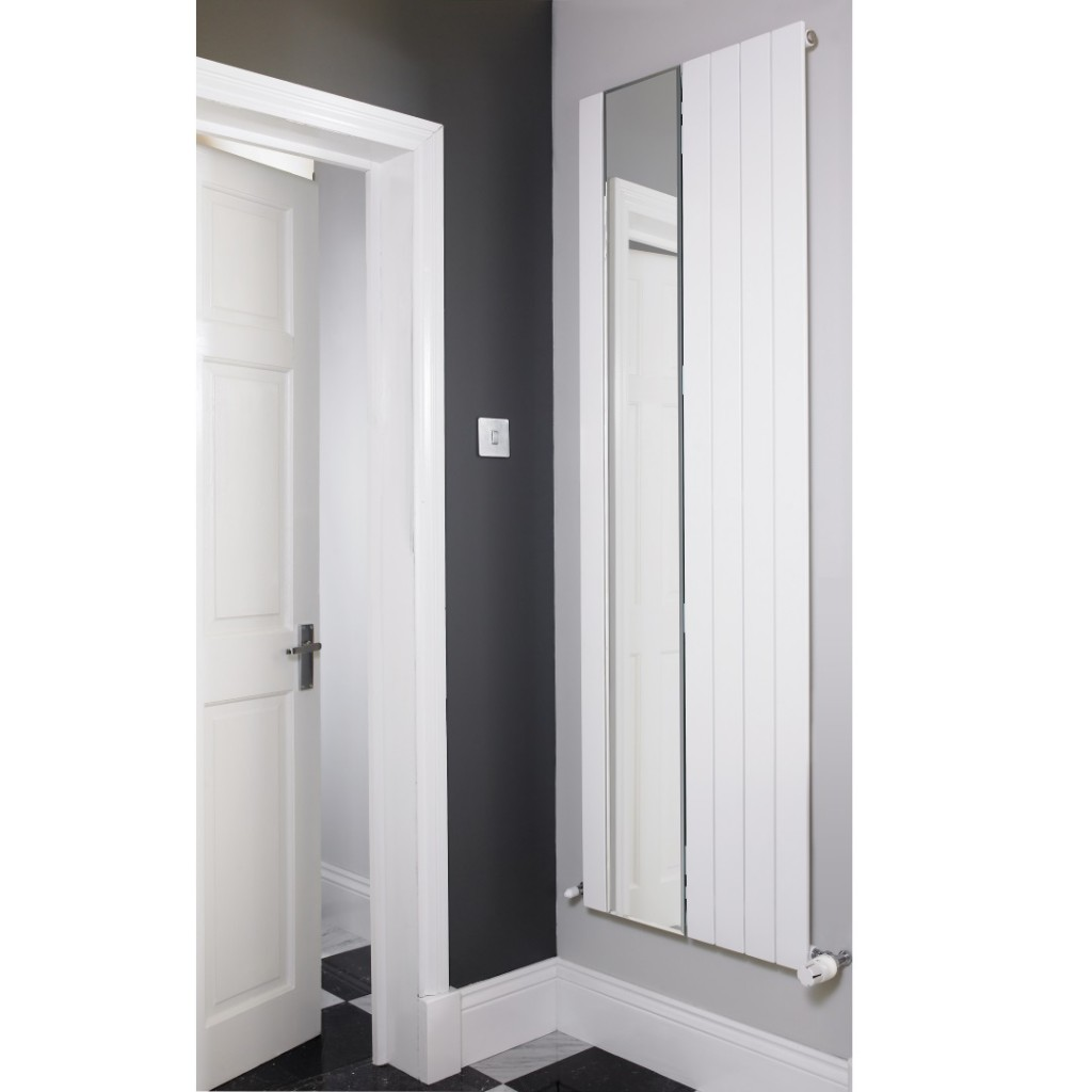 Hib bathroom mirrors led mirrors illuminated mirrors baker and soars - Eucotherm Mars Mirror Electro Electric Radiator White
