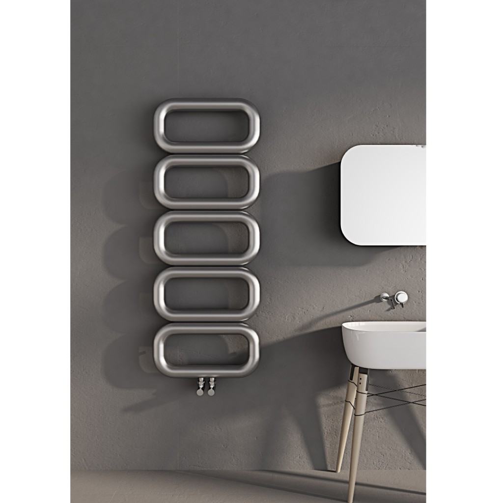 Carisa Talent Brushed Vertical Stainless Steel Radiator