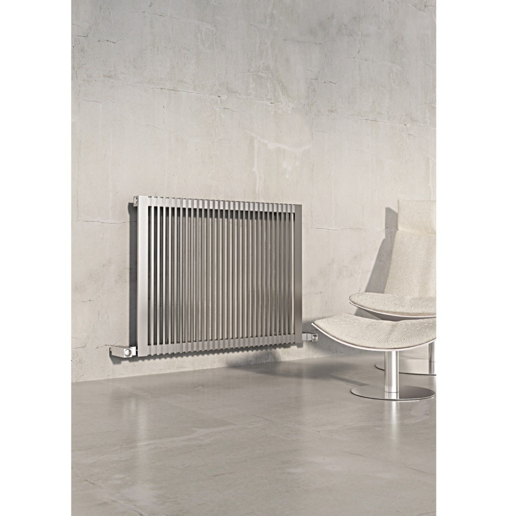 Carisa Stripe Horizontal Stainless Steel Radiator