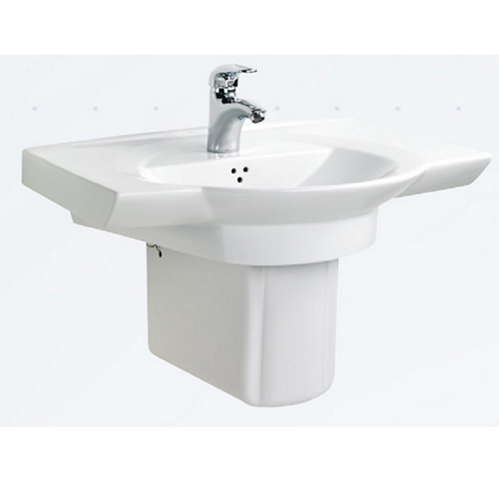Creavit Wing Half Pedestal Washbasin