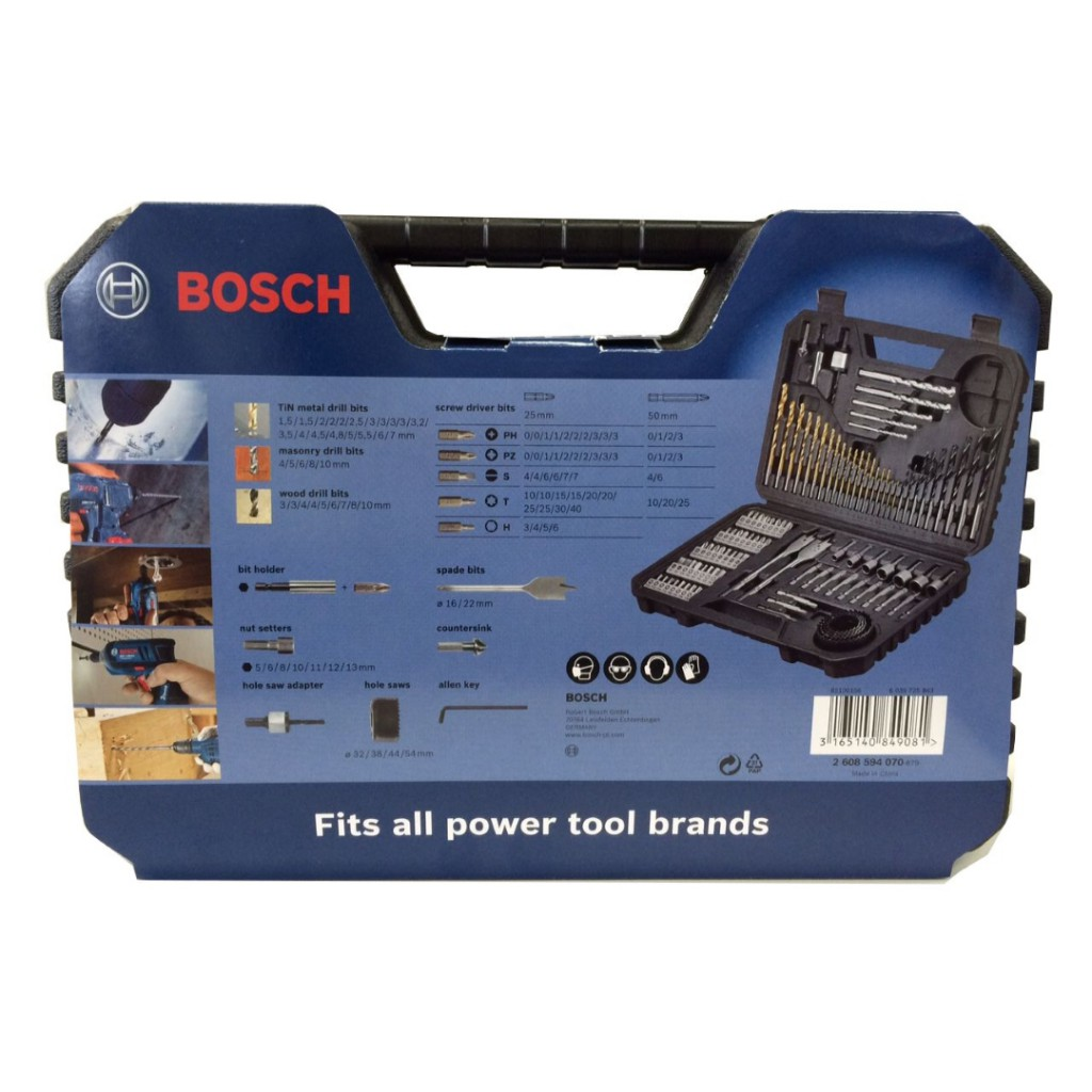 bosch 103 piece power drill bit set baker and soars. Black Bedroom Furniture Sets. Home Design Ideas