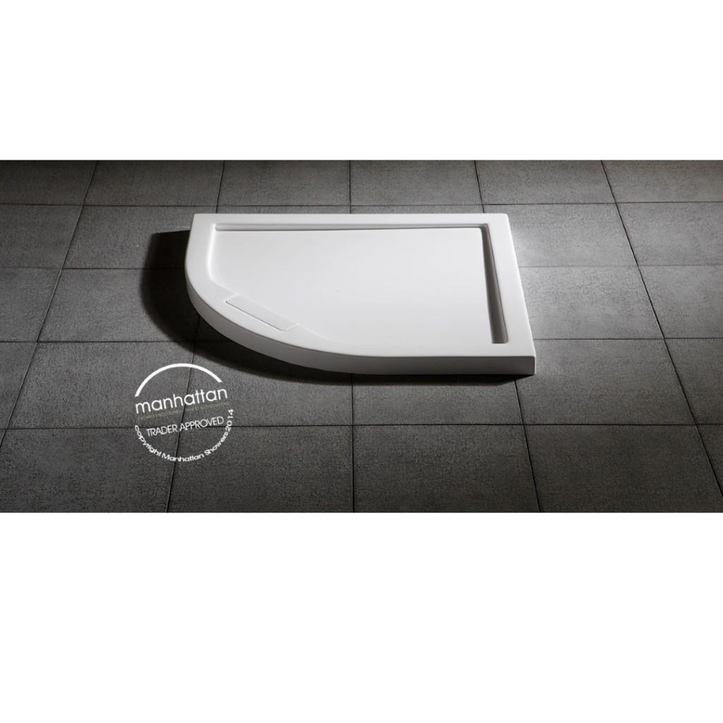 Manhattan Quadrant Shower Tray 800mm - Baker and Soars