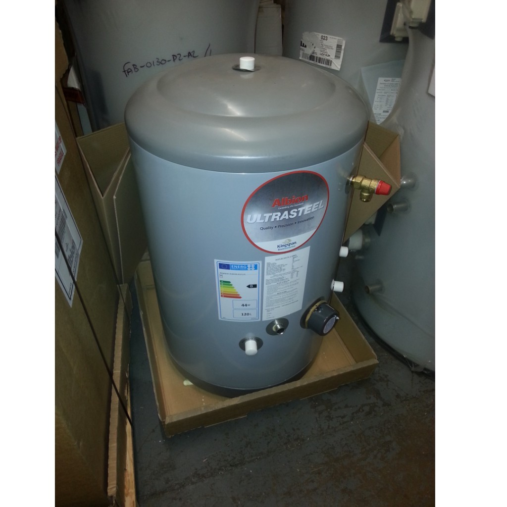Kingspan Albion Ultrasteel Indirect Unvented 120L Hot Water Cylinder ...