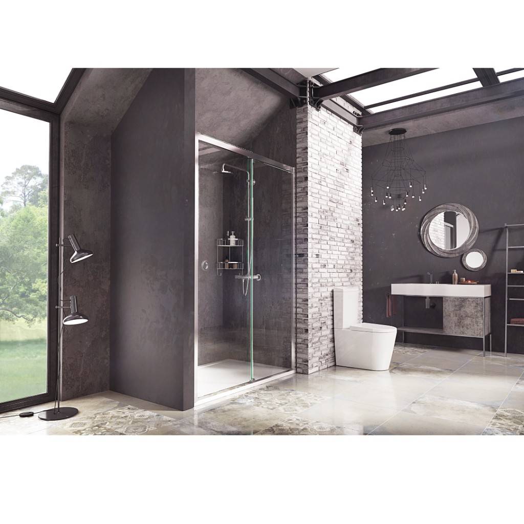 Roman Showers Decem Sliding Door Shower Enclosure Baker
